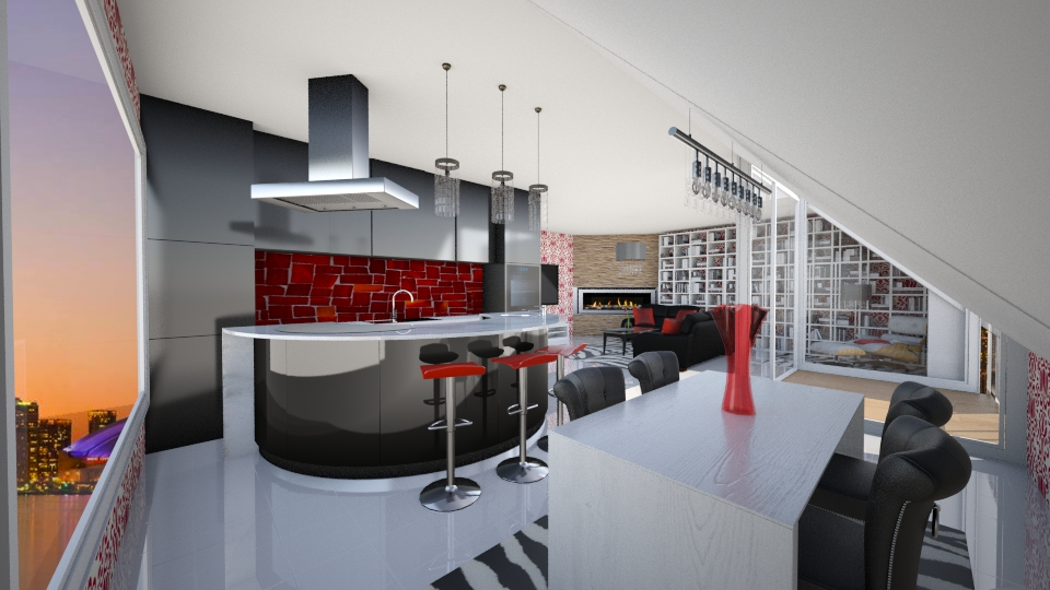 seattle - Living room - by seldina