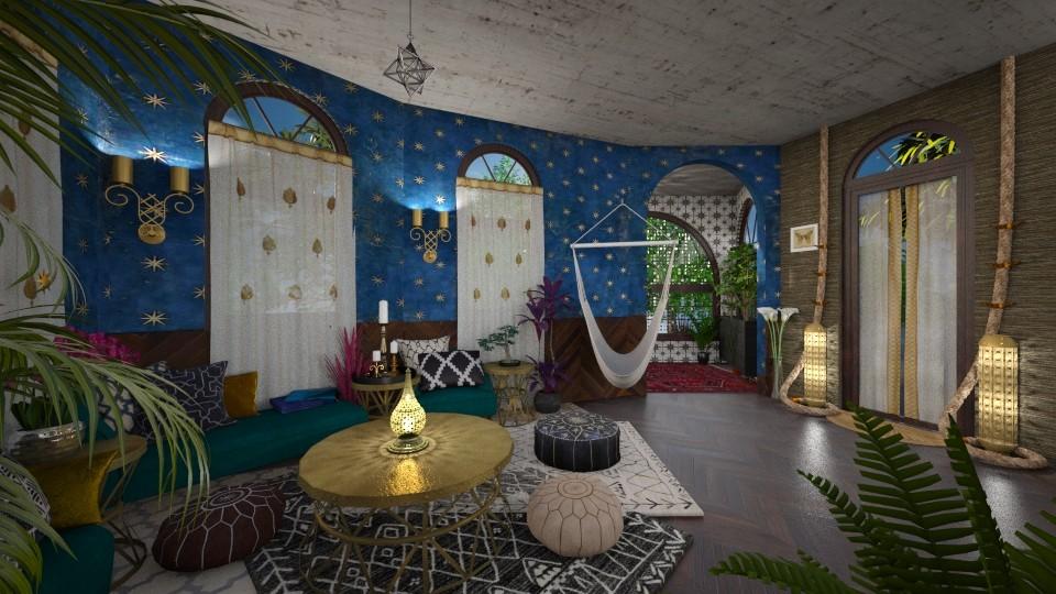 modern bohemian  - Living room - by AlocinB