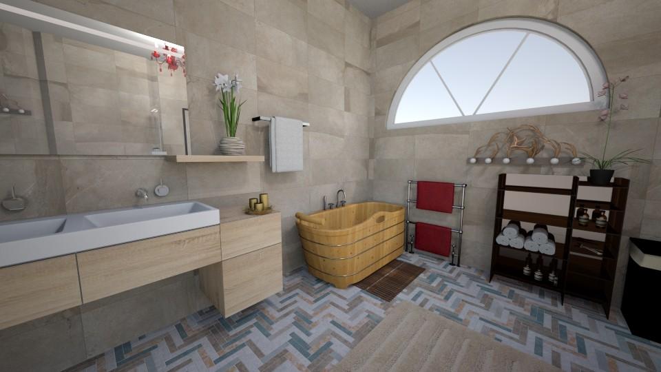 hnoss and loki bath - Bathroom - by naomidafish