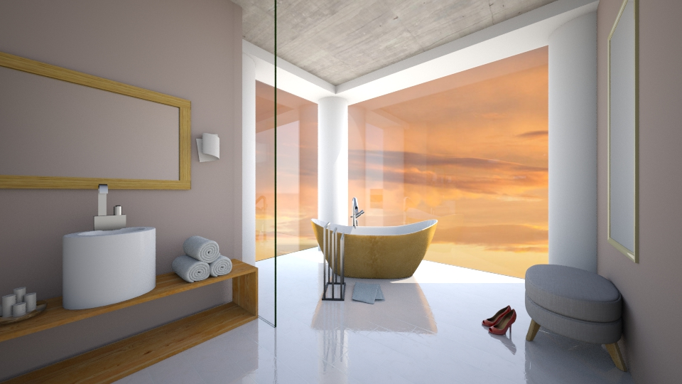 MODERN  - Bathroom - by MadebyG
